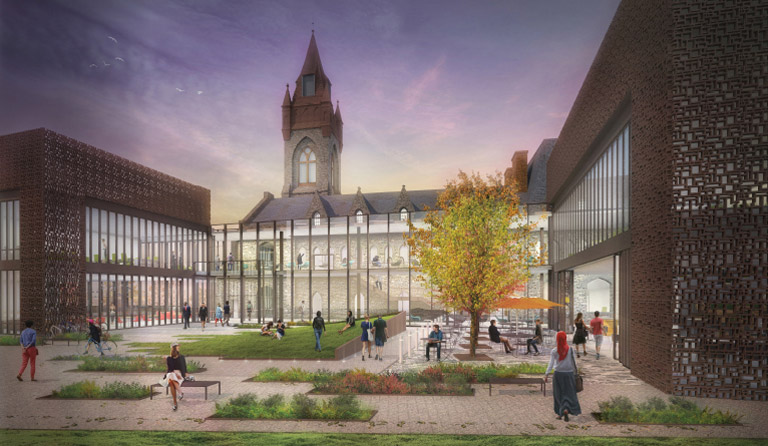 Architectural rendering of the renovated University Center