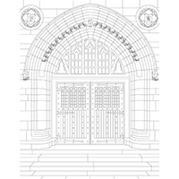 Packard Door coloring page preview