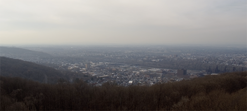 View of the Lehigh Valley from South Mountain in a screengrab from the campus camera